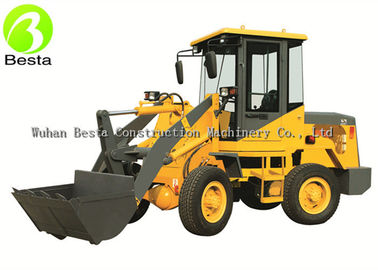 1Ton 2WD Mini Wheel Loader , Front Bucket Loader 1000KG Capacity With Diesel Motor